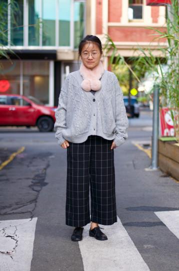 "Adelaide: Sherry Wang, Fashion, Sym Choon Lane. ""Cosy and warm."""
