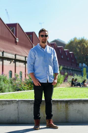 "Sydney: Daniel Hannah, IT., The Goods Line. ""The cleanest shirt I had."""