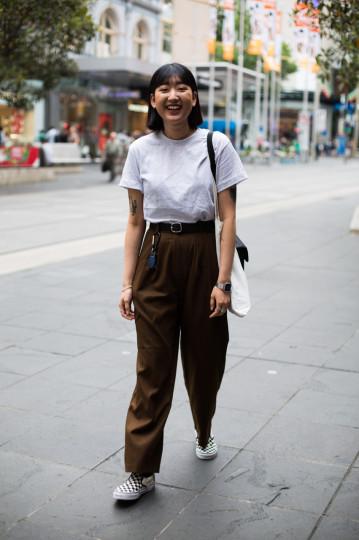 "VIC: Jina Kim, Melbourne. ""Shopping day."" Photo: Zoe Kostopoulos"