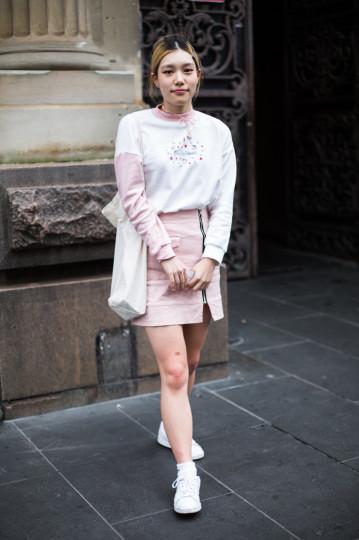"VIC: Julia, Bourke St, Melbourne. ""I like pink clothing."" Photo: Zoe Kostopoulos"