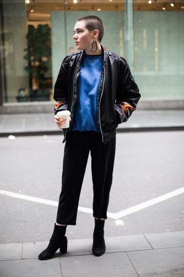 "VIC: Shannon Clegg, retail, Little Bourke St. ""Fun & comfy."" Photo: Zoe Kostopoulos"