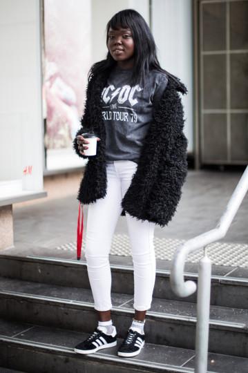 "VIC: Josna, visual merchandiser, Little Bourke St, Melbourne. ""Chameleon"". Photo: Zoe Kostopoulos"