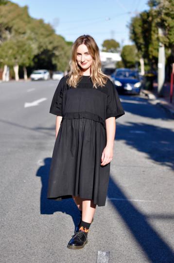 "WA: Rachel Hall, Hairdresser, Brisbane St Perth. ""My dress sense is quite casual, comfortable and a little bit edgy"". Photo: Stacey Pallaras"