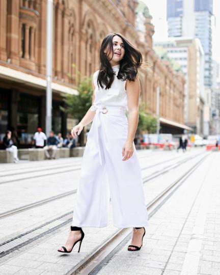 "NSW: Jemma, Sydney CBD. ""I love to wear items that aren't necessarily on trend, but showcase my own person style."" Photo: Simona Razmoska"