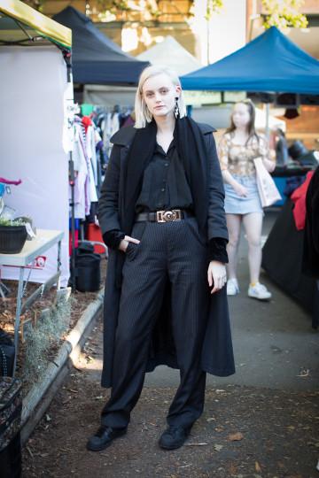 "NSW: Sydney Barber, Model, Glebe. ""Black and theatrical."" Photo: Maree Turk"