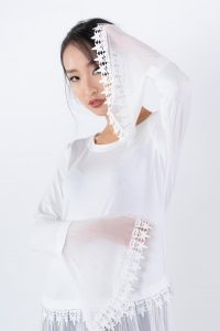 addison ash garment in white