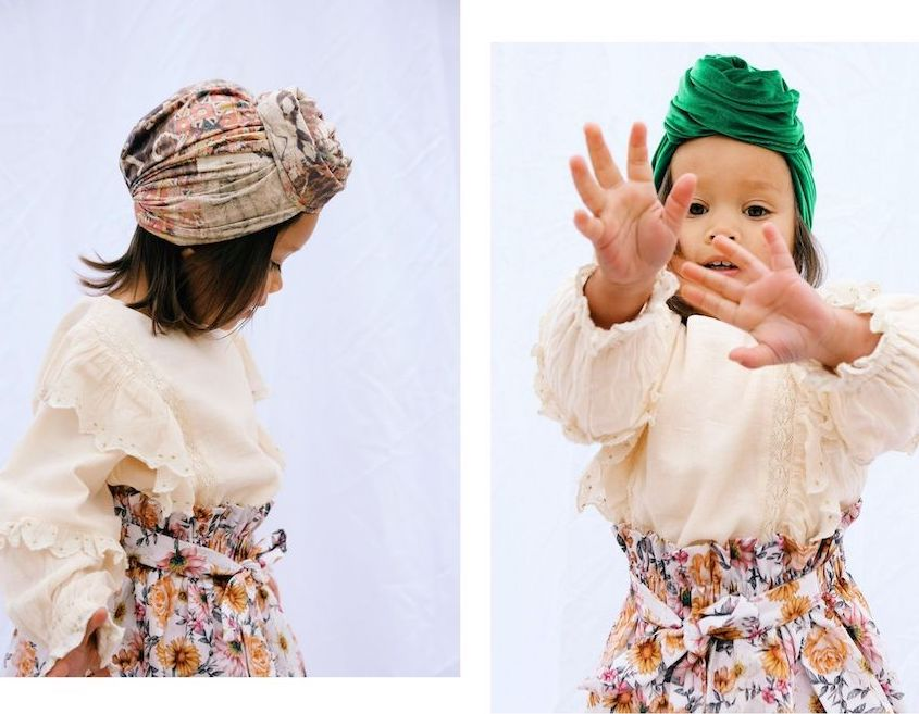 Naducaa head scarves on little girls