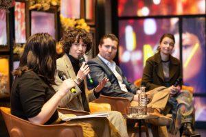 Jenna Flood - on a panel at Melbourne Fashion Week