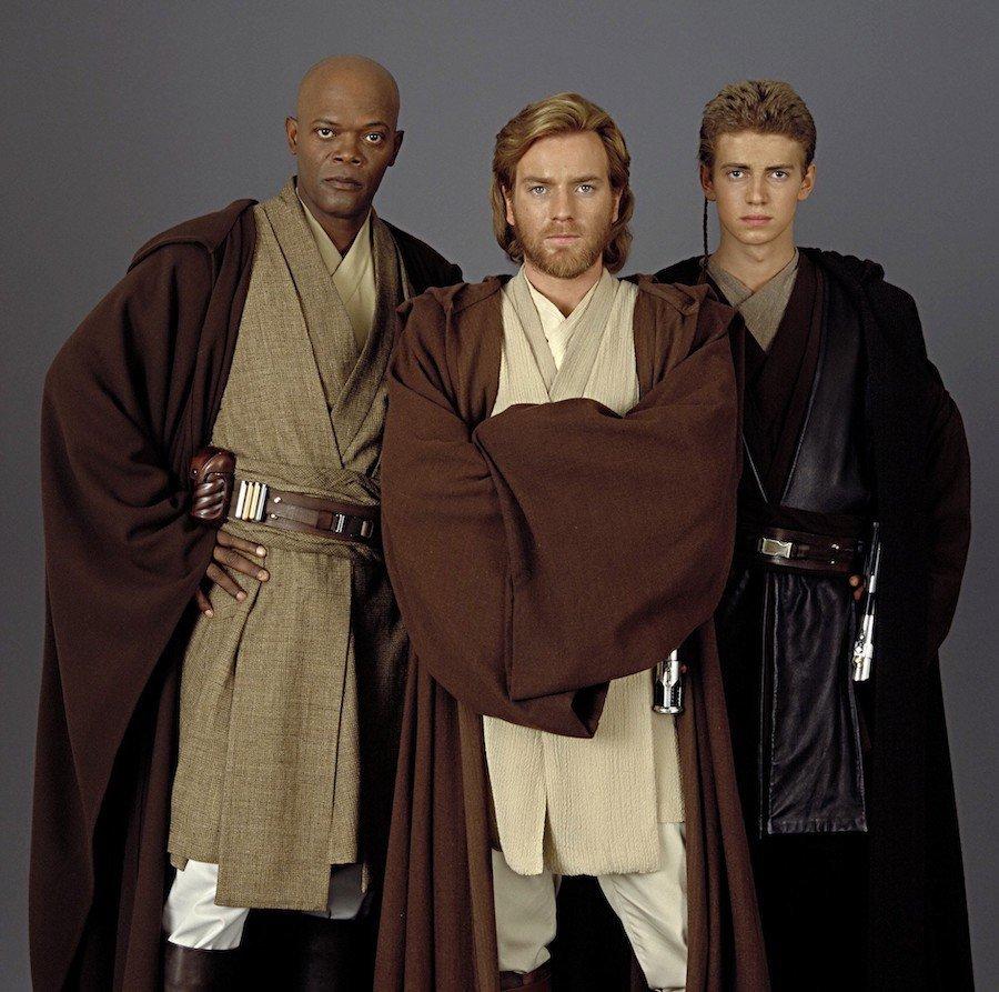 three Jedhi Knights from Start Wars