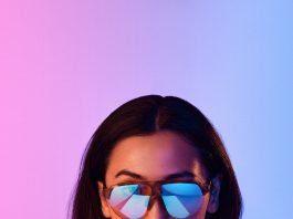 Model wearing Dreamwear eyewear -blue light glasses