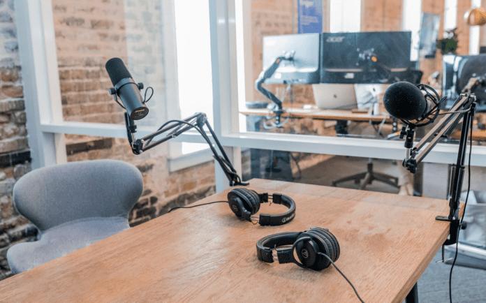 podcast recording room