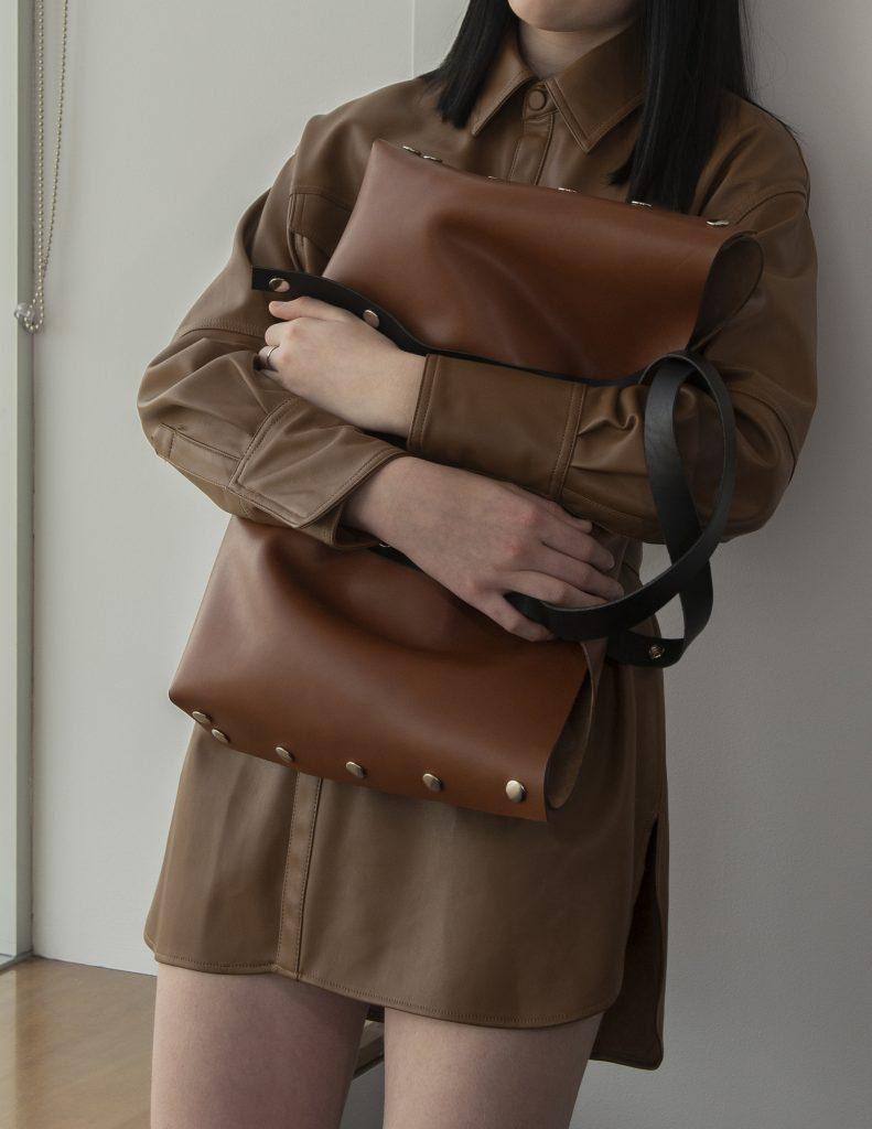 Australian made leather bags -tote by Katya Komarova