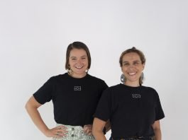 Co-Founders Sarah Sheridan & Laura Thompson modelling Closing the Gaps clothing