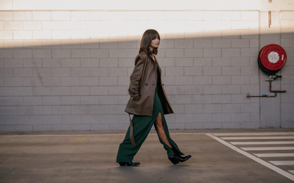 Sarah Helen street style at Aus Fashion Week
