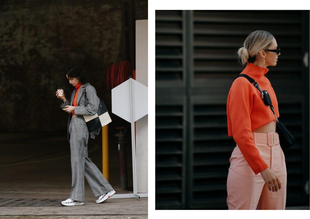 Individual women showing street style at fashion week
