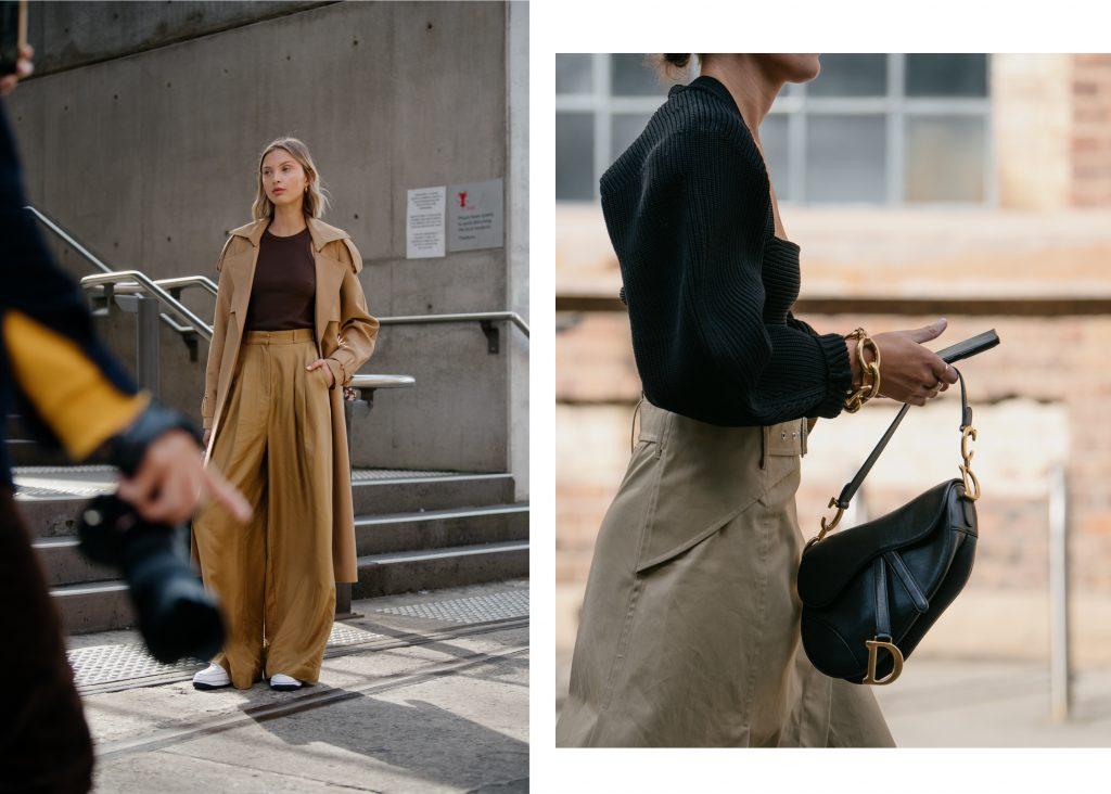 Stylishly well dressed people arriving at Australian Fashion Week