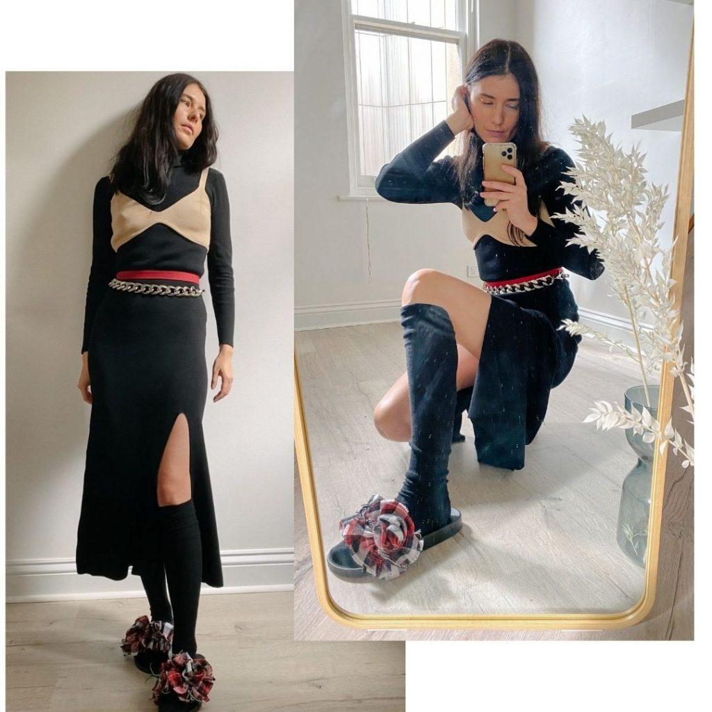 Katya Komarova styling and modelling NYOF Slides