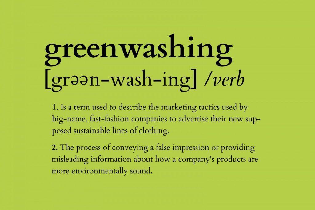 Defnition of greenwashing