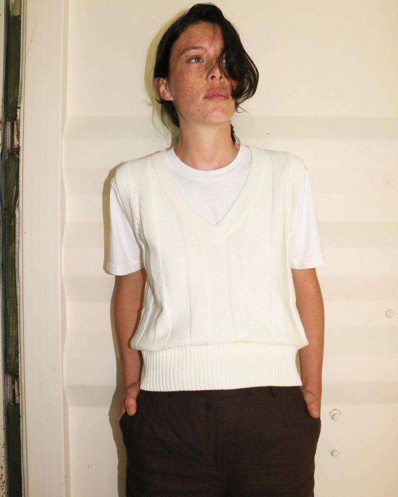 white Cricket vest